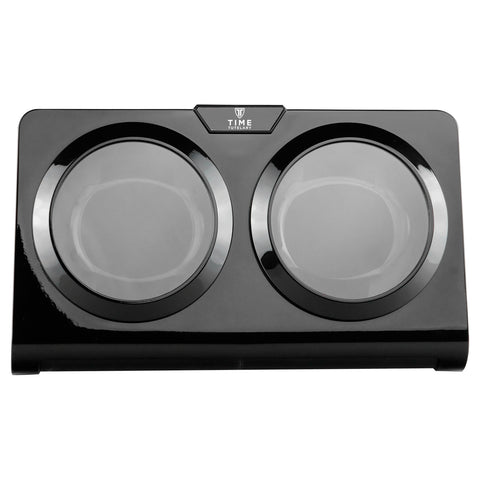 Black & Burlwood Dual Watch Winder (No' 002)