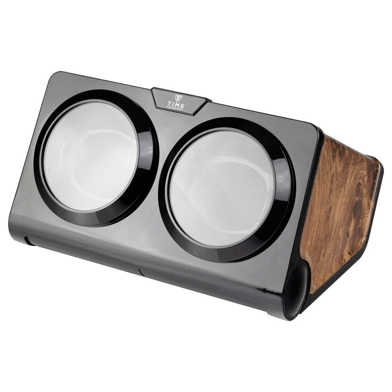 Burlwood Double Watch Winder