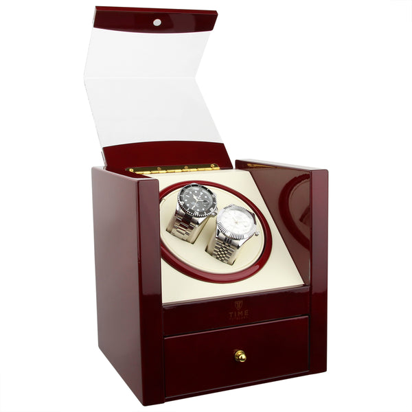 Piano Gloss Red Dual Watch Winder