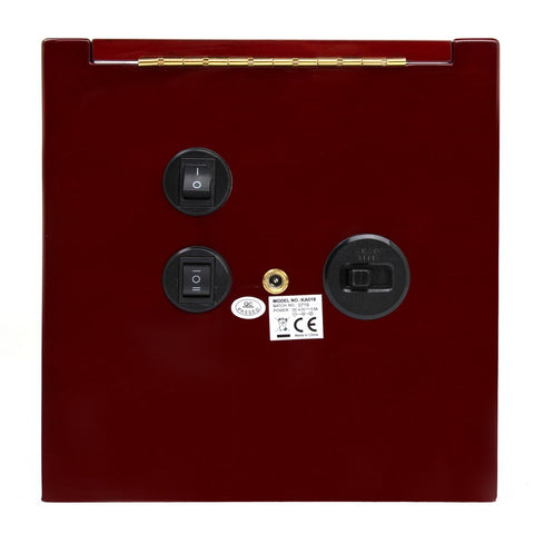 Red Wood Gloss Dual Watch Winder (No' 018)