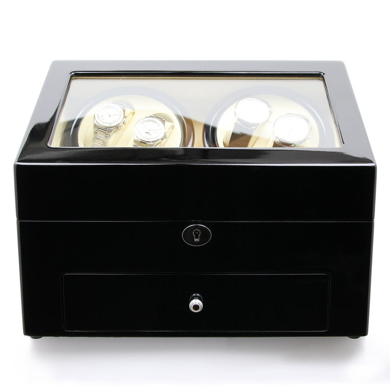 Black Lacquer Gloss Quad Watch Winder