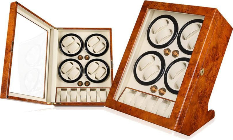 Burlwood Premium Octet Watch Winder (No' Q88YW)