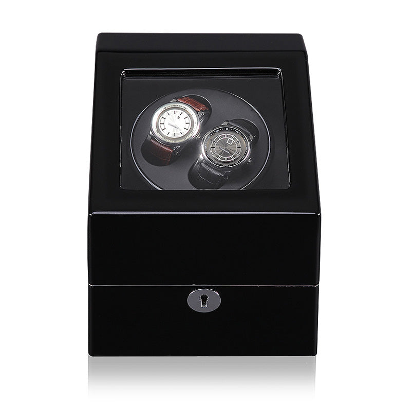 GLOSS DUAL WATCH WINDER (No' S24) Black