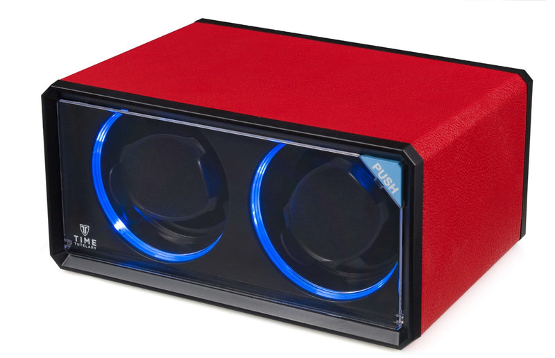 Double Watch Winder, LED Feature, Spring Loaded Watch Pillows