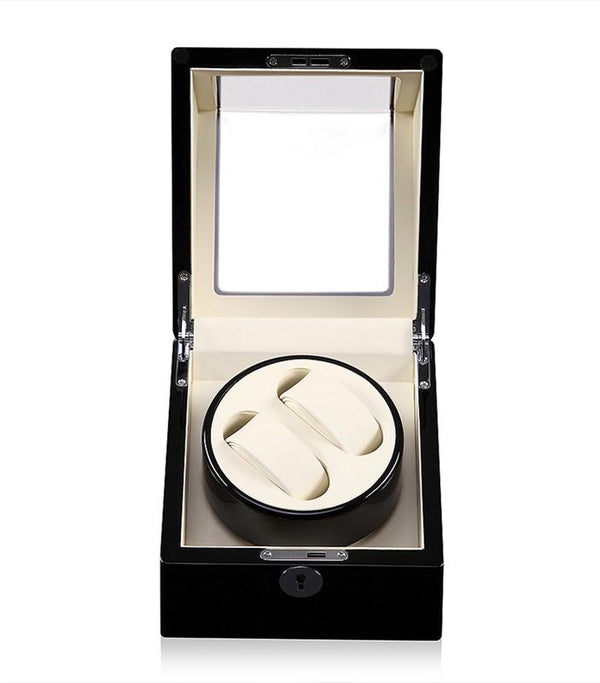 High Gloss Dual Watch Winder, Cream Interior (No' 105)