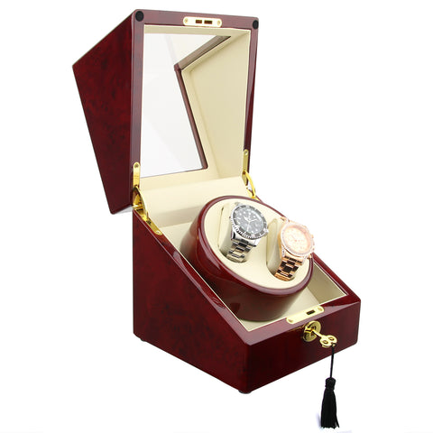 Automatic Watch Winder, Wood Case, Red Gloss Finish (No' 105)