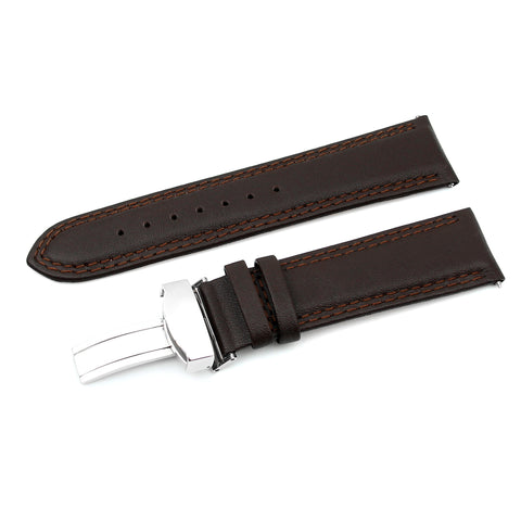 Dark Brown 22mm Luxury Calf Leather (KA-S42870)