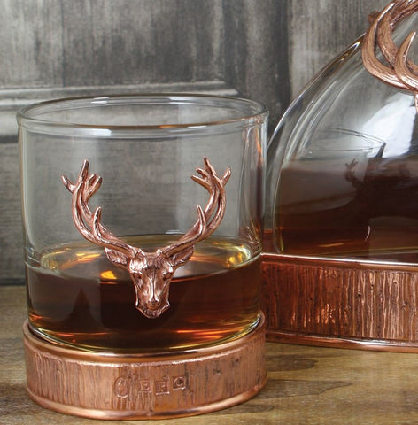 Stag Collection - 11oz Copper Majestic Stag Tumbler (Single)