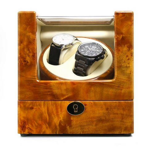 Dual Watch Winder No' 105 - Marble Gloss