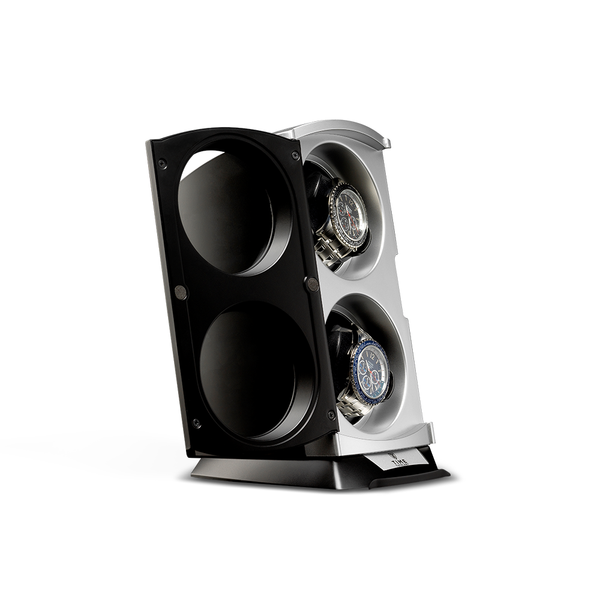 Black and Silver Vertical Watch Winder