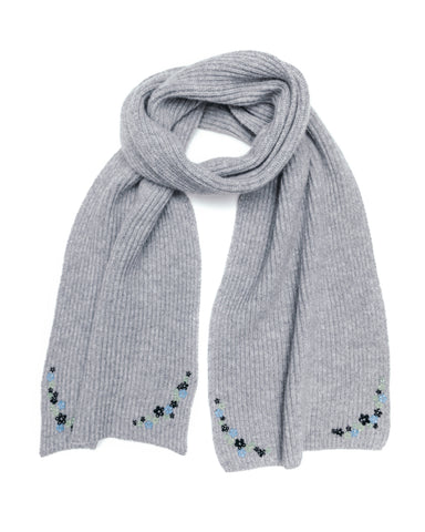 Ribbed Scarf, Light Grey