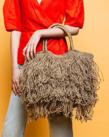 Machrame Fringe Bag