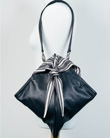 Navy Knot Bag