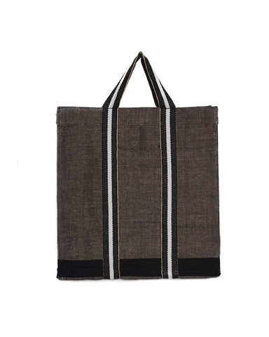 Monochrome Jute Shopper