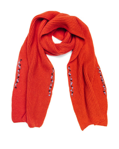 Ribbed Scarf, Amaranth