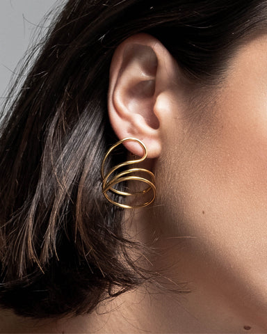 Gold Twist Earrings (Large)