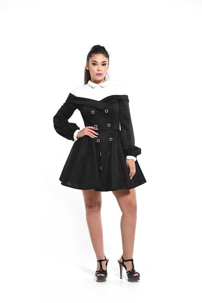The Sasha Baby Doll Coat Dress