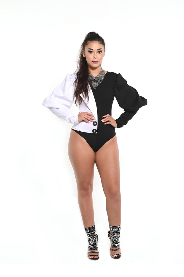 The Skye Half-Blazer Bodysuit
