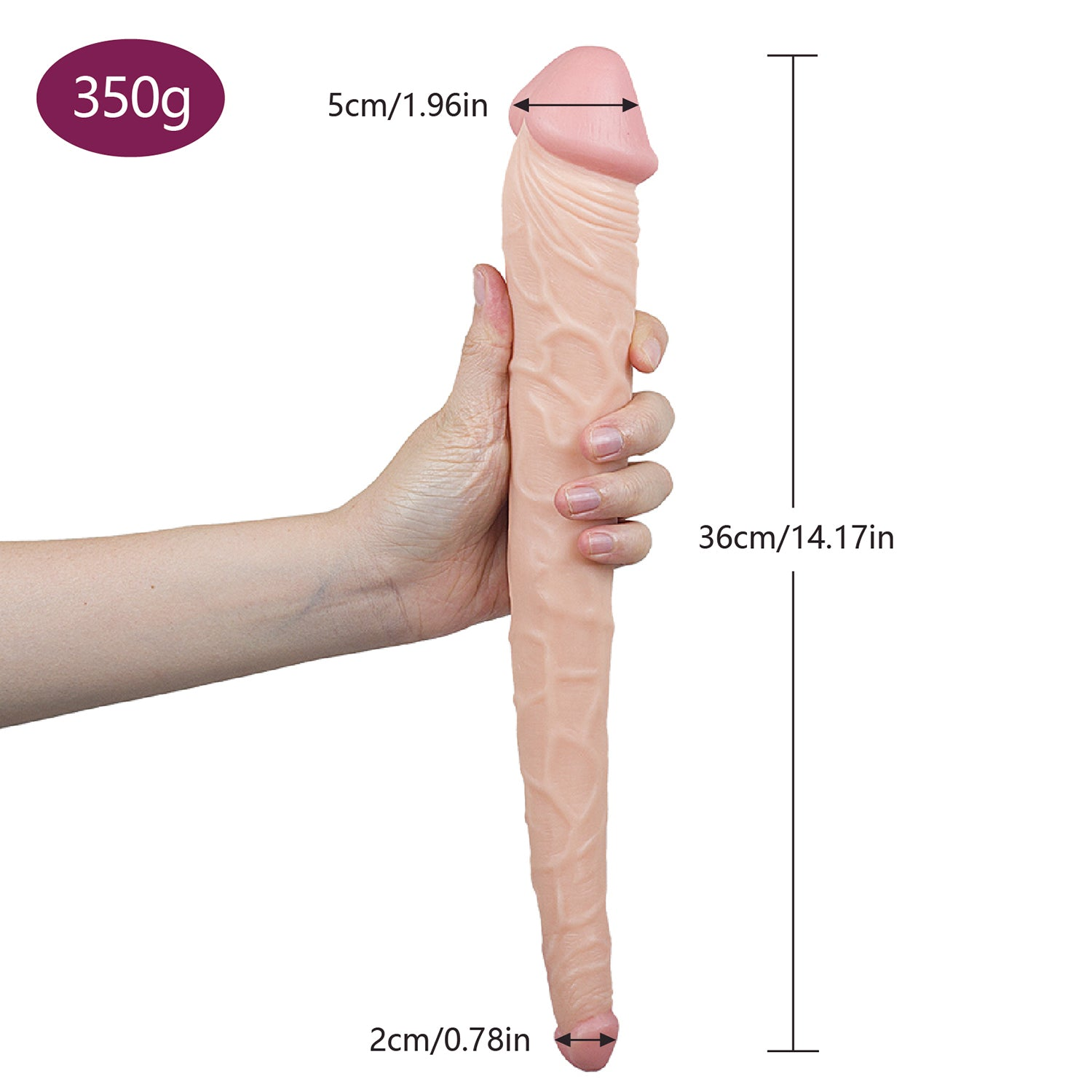MD 36cm Double ended Dildo Realistic Silicone Double Dong
