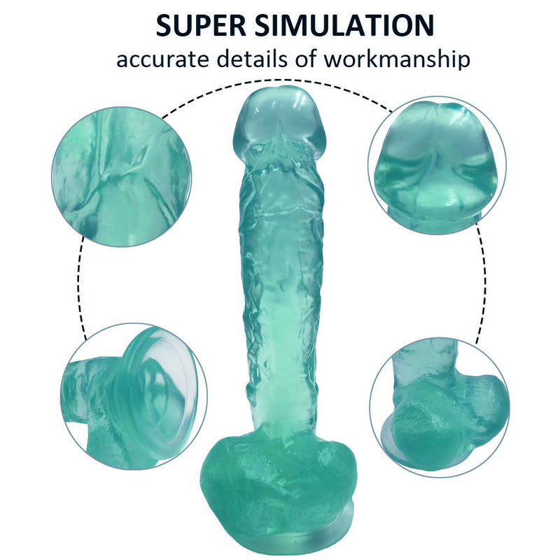 MD Stallion 23cm Heavy Crystal Realistic Dildo - Green