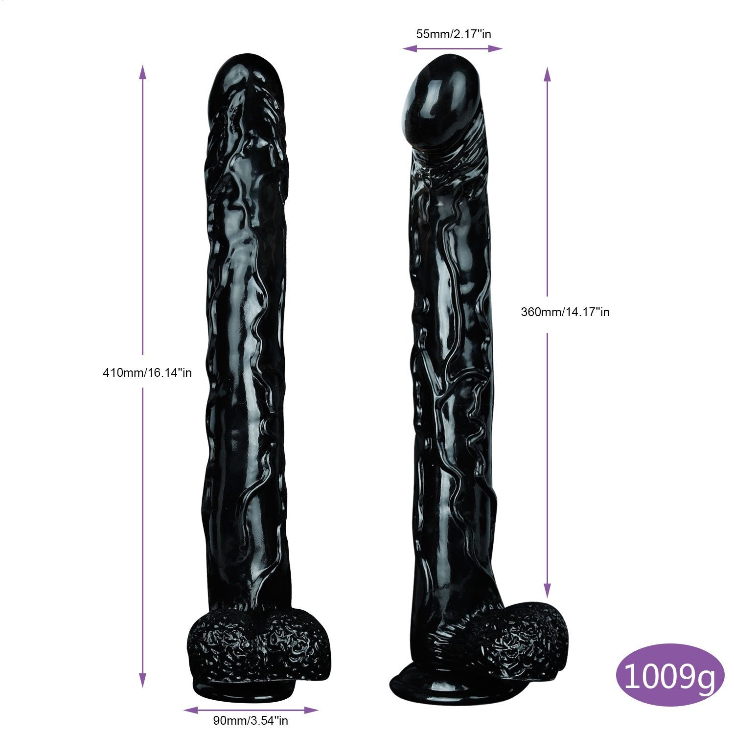 MD Super 41cm Realistic Strap on Dildo Dong Long Size Penis Cock