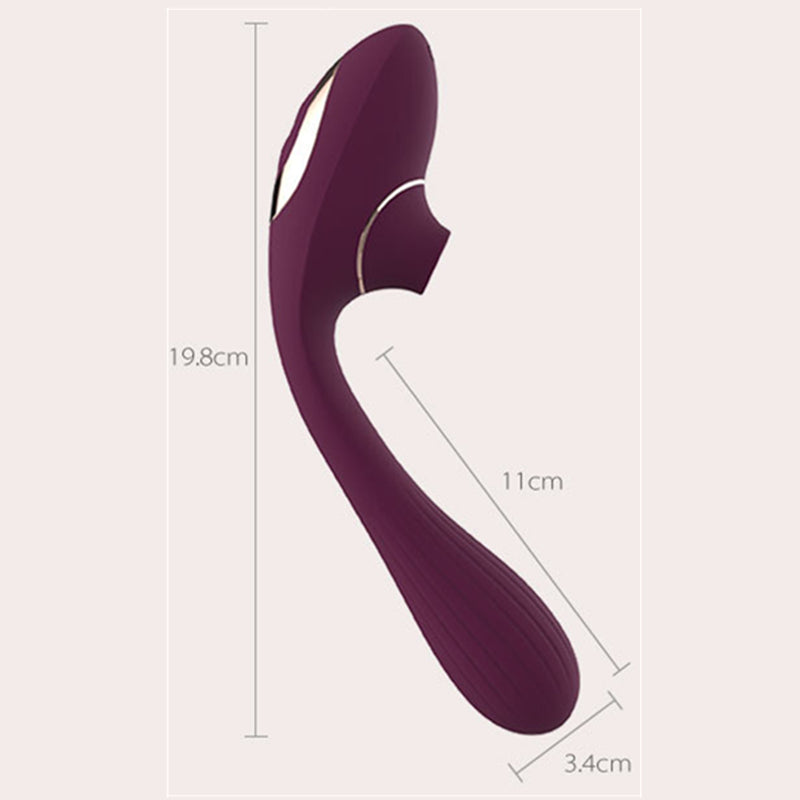 NV TOYS Dina 10+10 Modes Impulse Sucking Vibrator & G Spot Stimulator
