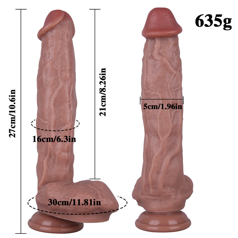 MD Tiger X-Large Silicone Realistic Dildo - 29cm