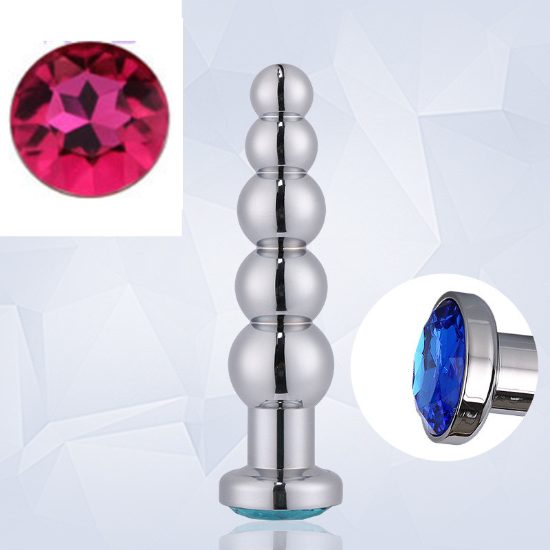 RY Deluxe Crystal Jewelled Stainless Steel Anal Plug Large Butt Beads Anal Beads