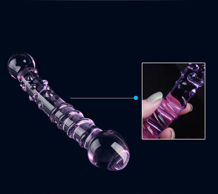 Double Ended 18cm Crystal Butt Plug / Anal Beads / Thruster Dildo - Pink