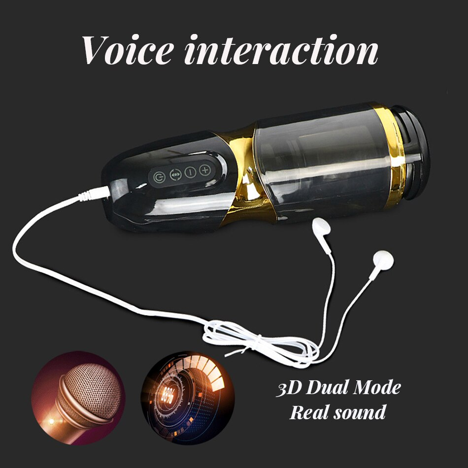 UNIMAT Auto Telescopic & Rotating Moan Male Mastubator