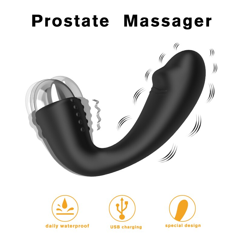 JRL 10 Modes Soft Silicone Anal Plug Vibrator Prostate Massager Dildo Edition
