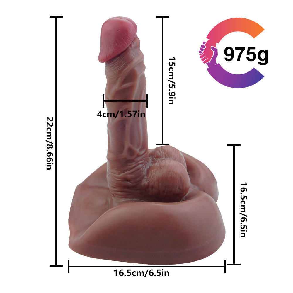 MD Realistic Riding Torso Dildo Doll / Female & Gay Masturbator