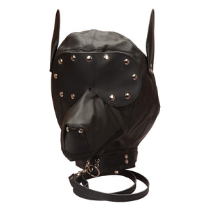 BDSM Faux Leather Dog Mask Blindfold Fetish Puppy Play Hood