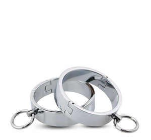 RY Alloy HandCuffs Wrist Ankle Cuffs Fetish Restraint with Pin lock 85mm Dia