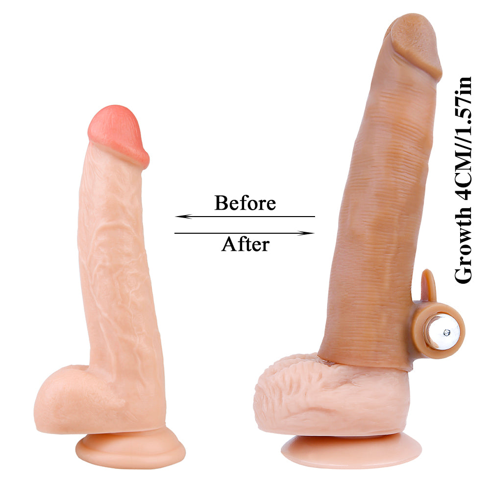 MD M5 Realistic Silicone Penis Sleeve Cock Extender / Add 1.5 inch / Vibe & Normal