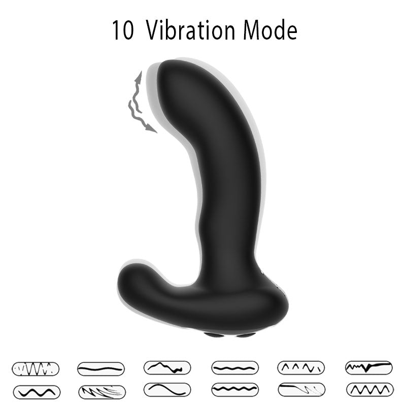 JRL Remote Control Auto Heat Rolling Prostate Massager Anal Vibrator