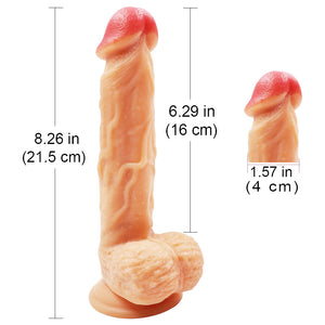 MD 21.5cm Realistic Dildo Dong Strap on Silicone Penis Cock