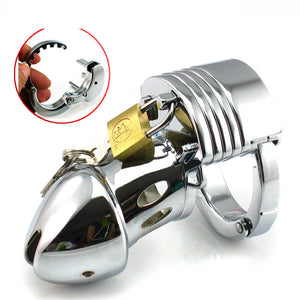LHD Steel Cock Penis Cage Male Chastity Cage Kit Adjustable BDSM