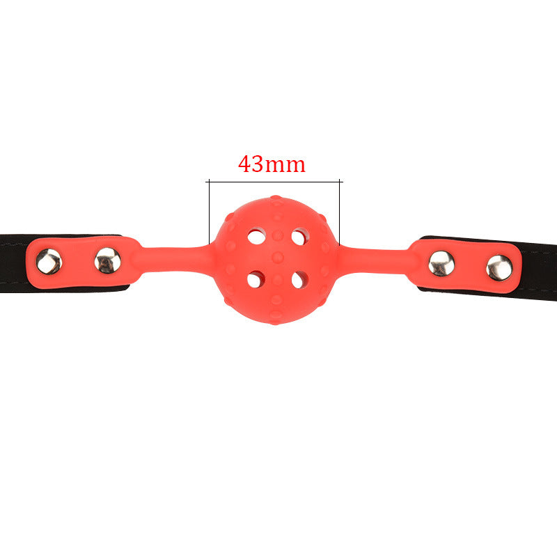 BDSM Mouth Gag Ball & Nose Hook Full Head Harness