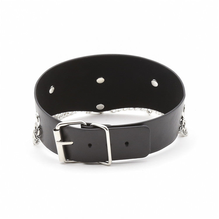 BDSM Bondage Collar Necklace Metal Chain Restraints