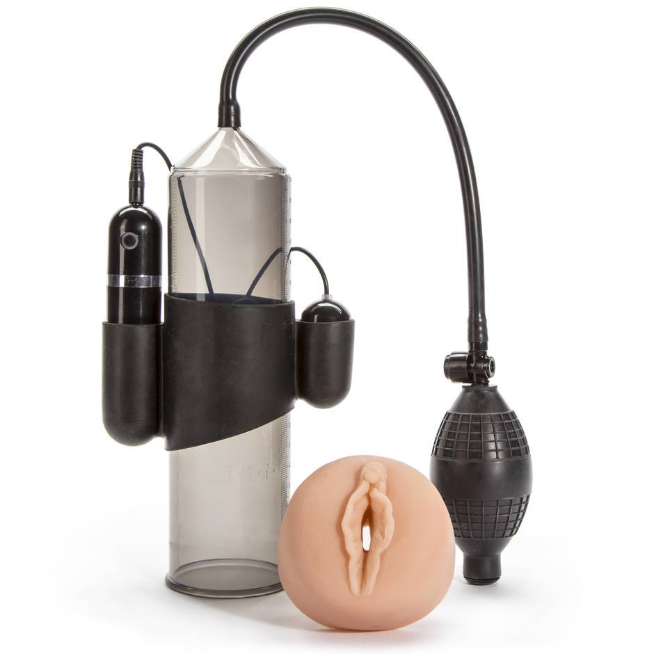 "Lust Pumper 8"" Vibrating Vacuum Penis Pump Cock Enlarger Extender Massager"