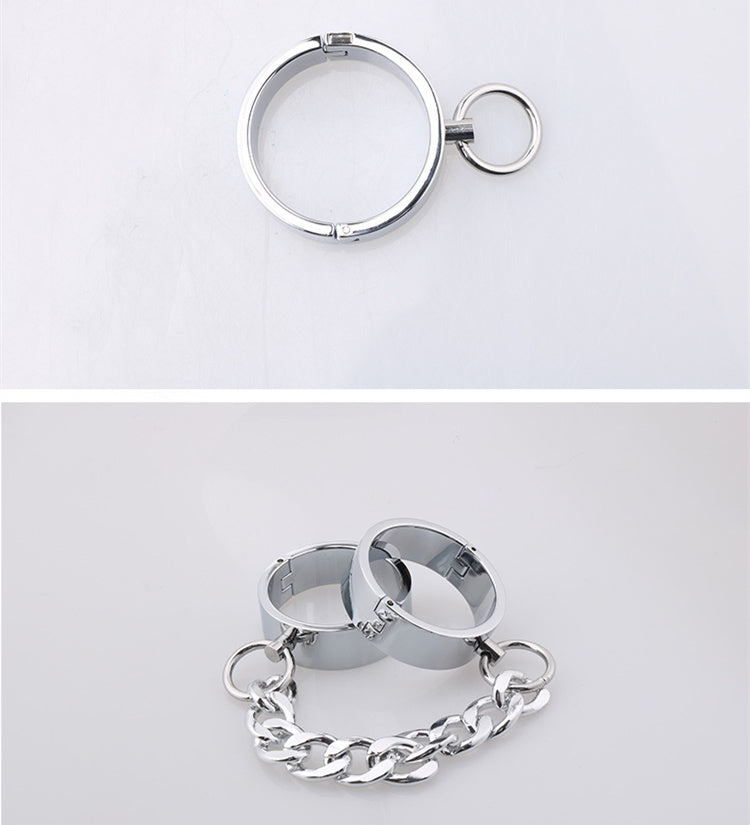 RY Alloy HandCuffs Wrist Ankle Cuffs Fetish Restraint with Pin lock 70mm Dia