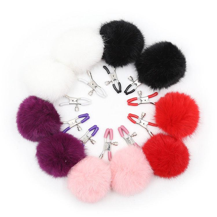 Furry Nipple Clamps Clips