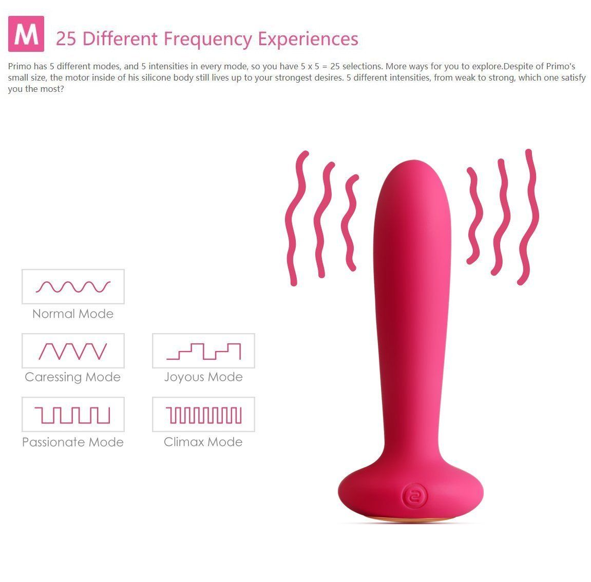 SVAKOM Primo Wearable G-spot & Anal Remote-Controlled Long-bullet Warming Vibrator