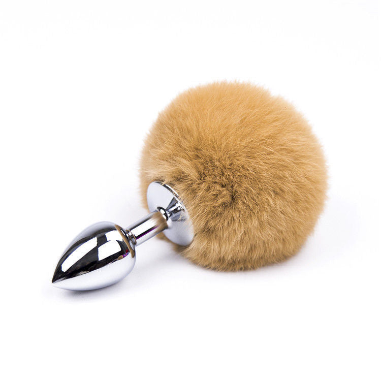 Stainless Steel Anal/Butt Plug with Furry Rabbit Tail