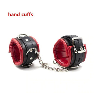 BDSM Detachable Ankle Wrist Handcuffs Bondage Restraint Spreader Bar / Leg Opener