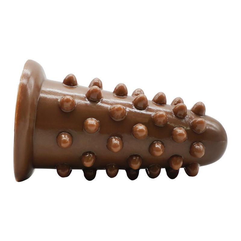 MD Hedgehog Huge Size Silicone Beaded Anal Plug - Brown
