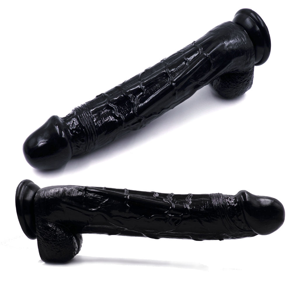 MD King 32cm HUGE Realistic Dildo Dong Veined Silicone Penis