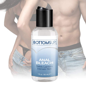 Bottoms Up Anal Bleach for Men & Women, 1 fl.oz (29.5 mL) Lubricant Made in USA