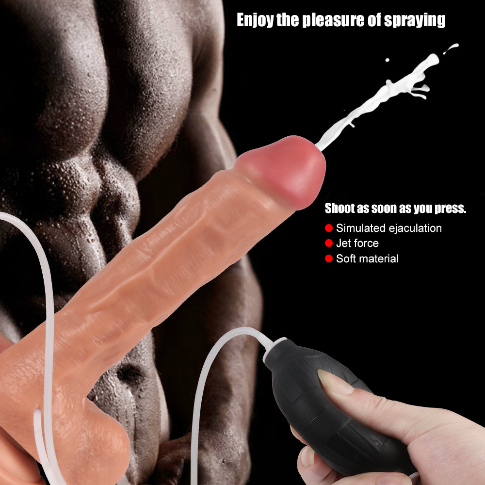 MD 24cm Ejaculating Realistic Squirting Dildo